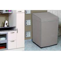Capa Para Máquina de Lavar Adomes M2080 Eletrolux Brastemp 10Kg Bege -