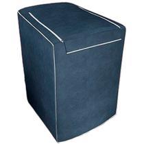 Capa para máquina de lavar Eletrolux, Brastemp, Consul 12, 13, 15 e 16 KG Azul Cobalto - Adomes