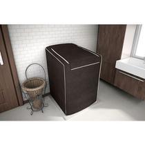 Capa para máquina de lavar Eletrolux, Brastemp, Consul 12, 13, 15 e 16 KG Café - Adomes