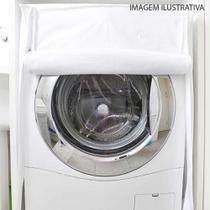 Capa para maquina de lavar frontal flanelada 85 x 63 x 73cm - Toda Casa