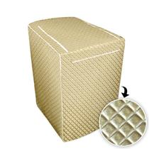 Capa para maquina de lavar glamour 7kg a 9 kg - dourada - Biazon Decor
