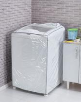 Capa para Máquina de Lavar Roupa Transparente G Branco - NTB Embalagens