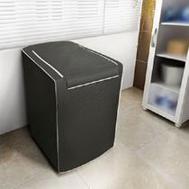 Capa para Máquina de Lavar Roupas Adomes M3004 Tampa com zíper 12 a 16 KG Café -