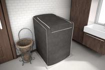 Capa Para Máquina De Lavar Roupas Adomes M3004 Tampa Com Zíper 12 A 16 Kg CAFE -
