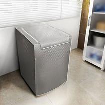 Capa para Máquina de Lavar Roupas Adomes M3004 Tampa com zíper 12 a 16 KG Cinza -