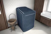 Capa para máquina de lavar roupas de 7kg a 16kg azul cobalto - Adomes -