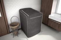 Capa para máquina de lavar roupas de 7kg a 16kg café - Adomes -