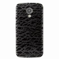 Capa para Moto G2 Black Abstract - Quero case