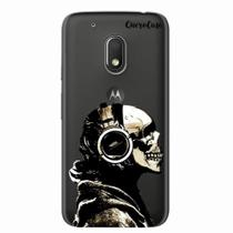 Capa para Moto G4 Play Caveira Headphone Transparente - Quero case