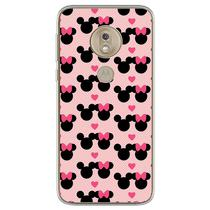 Capa para Moto G7 Plus - Minnie e Mickey  Love - Mycase
