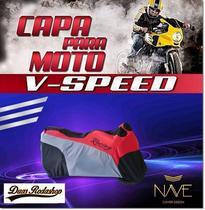Capa para  moto Speed cor vermelho - Nave
