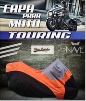 Capa para moto Touring Ultra Glide cor laranja - Nave