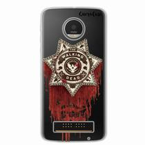 Capa para Moto Z Play Walking Dead Distintivo - Quero case