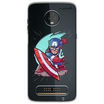 Capa para Moto Z3 Play - Capitão América - Mycase