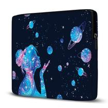 Capa para Notebook em Neoprene - CN - Menina Galáxia - Case Notebook