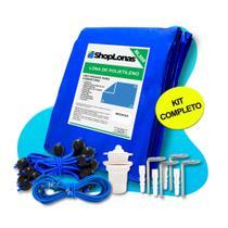 Capa para Piscina 10 em 1 Proteção Azul 300 Micras 6x3 - Shoplonas