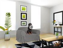 Capa Para Poltrona Sofá 1 Lugar Em Brim Peletizado 100% Algodão Sala Confortável Resistente Macio Mais Vendidos - Casabrasile