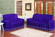 Capa para sofá dalia 2 e 3 lugares - uva - Enxovais Prearo