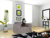 Capa para Sofá de 1 lugar até 1 metro em Gorgurão Resistente Kids Criança Cachorro Gato Sala Lisa Casa - Mistero