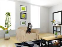Capa para Sofá de 1 lugar até 1 metro em Gorgurão Resistente Lisa decorativa renovadora - Casabrasile