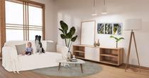 Capa para Sofá de 3 Lugares em Brim Sarja 100% Algodão Macio Confortável Luxo Peletizado Sala Decoração - Mistero