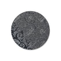 Capa para Sousplat em Tecido Jacquard Fio Brilhante Cinza Arabesco -