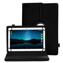Capa Para Tablet de 10 Polegadas Couro Protetora Giratória Inclinável Premium de Todas Marcas Preta - Extreme Cover