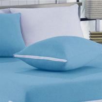 Capa para Travesseiro SBX Malha Azul com Zíper -