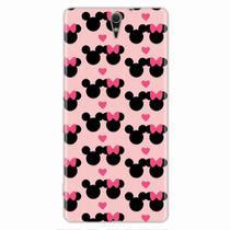 Capa para Xperia C5 Mickey e Minnie 01 - Quero case