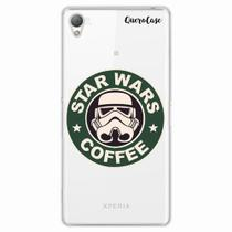 Capa para Xperia Z1 Star Wars Coffee Transparente - Quero case