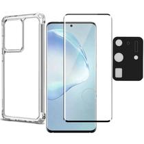 Capa + Película Curvada 3D + Câmera Gel Samsung S20 Ultra - Highquality