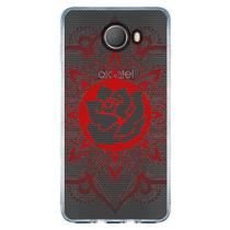 Capa Personalizada Alcatel A30 Plus - Mandala Floral - TP258 - Drkappa