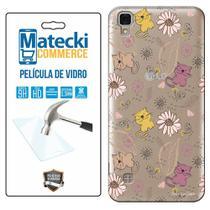 Capa Personalizada Animais + Película de Vidro para LG X Style K200 - Matecki -