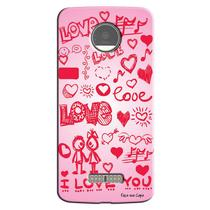 Capa Personalizada Exclusiva Motorola Moto Z I Love You - LV04