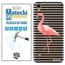 Capa Personalizada Flamingos + Película de Vidro para LG X Style K200 - Matecki -