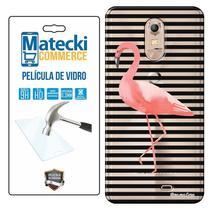 Capa Personalizada Flamingos + Película de Vidro para Quantum MUV e MUV PRO - Matecki -