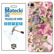 Capa Personalizada Flores + Película de Vidro para LG X Style K200 - Matecki -