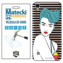 Capa Personalizada Girl + Película de Vidro para LG X Style K200 - Matecki -