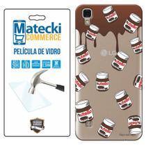 Capa Personalizada Nutella + Película de Vidro para LG X Style K200 - Matecki -