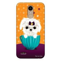 Capa Personalizada para LG K10 Pro M400 Cachorro no Pote - DE03 -