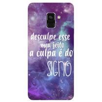Capa Personalizada para Samsung Galaxy A8 2018 Plus - A Culpa é do Signo - SN37 -