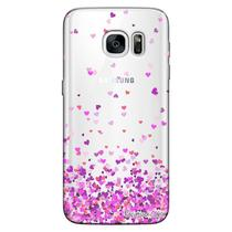 Capa Personalizada para Samsung Galaxy S7 Edge G935 Corações - TP167 -