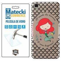 Capa Personalizada Princesa Ariel + Película de Vidro para LG X Style K200 - Matecki -