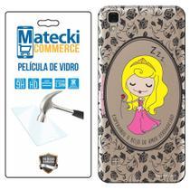 Capa Personalizada Princesa Bela Adormecida + Película de Vidro para LG X Style K200 - Matecki -