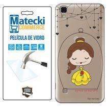 Capa Personalizada Princesa Bela + Película de Vidro para LG X Style K200 - Matecki -