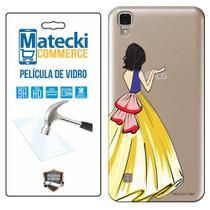Capa Personalizada Princesa Branca de Neve + Película de Vidro para LG X Style K200 - Matecki -