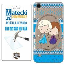 Capa Personalizada Princesa Elsa e Anna + Película de Vidro para LG X Style K200 - Matecki -