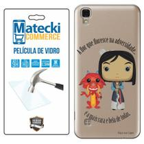 Capa Personalizada Princesa Mulan + Película de Vidro para LG X Style K200 - Matecki -