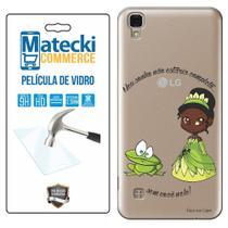 Capa Personalizada Princesa Tiana + Película de Vidro para LG X Style K200 - Matecki -