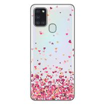 Capa Personalizada Samsung Galaxy A21S A207 - Corações - TP48 - Matecki